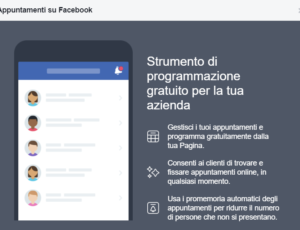 Gestire appuntamenti asporto con Facebook